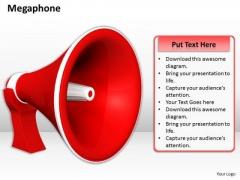 Stock Photo Red Color Speaker PowerPoint Slide