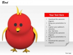 Stock Photo Red Cute Chick PowerPoint Slide