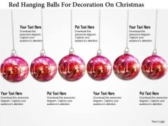 Stock Photo Red Hanging Balls For Decoration On Christmas PowerPoint Slide