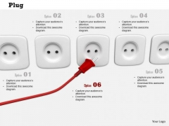 Stock Photo Red Plug Moving Towards Socket PowerPoint Slide