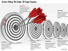 Stock Photo Red Target Dart For Target Achievement PowerPoint Slide