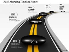 Stock Photo Road Mapping Timeline Stones PowerPoint Slide