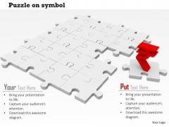 Stock Photo Rupee Symbol On Missing Puzzle Piece PowerPoint Slide