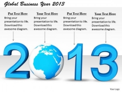 Stock Photo Sales Concepts Global Business Year 2013 Clipart Images