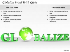 Stock Photo Sales Concepts Globalize Word With Globe Business Clipart Images