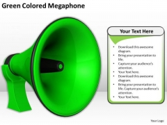 Stock Photo Sales Concepts Green Colored Megaphone Business Images Photos