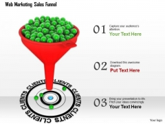 Stock Photo Sales Funnel With Target Client PowerPoint Slide