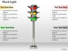 Stock Photo See Traffic Light While Drive PowerPoint Slide