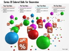 Stock Photo Series Of Colored Balls For Decoration PowerPoint Slide