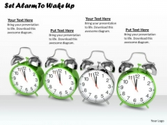 Stock Photo Set Alarm To Wake Up Ppt Template