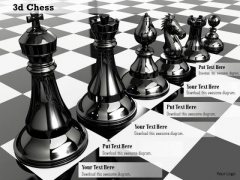 Stock Photo Set Of Chess Pieces On Chess Board PowerPoint Slide