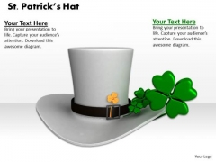 Stock Photo Set Patricks Hat With Clover PowerPoint Slide