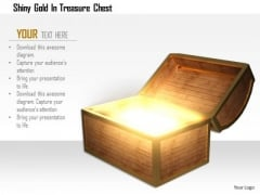 Stock Photo Shiny Gold In Treasure Chest PowerPoint Slide