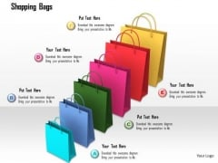 Stock Photo Shopping Bags In Increasing Order PowerPoint Slide