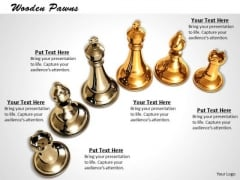 Stock Photo Silver And Golden Chess Pieces PowerPoint Slide