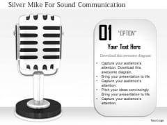 Stock Photo Silver Mike For Sound Communication PowerPoint Slide