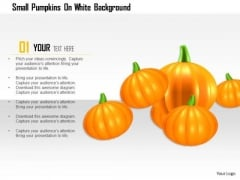 Stock Photo Small Pumpkins On White Background PowerPoint Slide