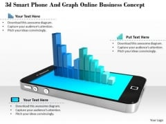 Stock Photo Smartphone Business Graph PowerPoint Slide
