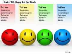 Stock Photo Smiley With Happy And Sad Moods PowerPoint Slide