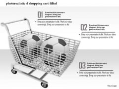 Stock Photo Soccer Balls In Shopping Cart PowerPoint Slide