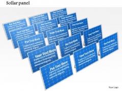 Stock Photo Solar Panels For Energy Plants PowerPoint Slide