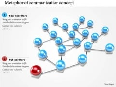 Stock Photo Spheres Connected With One Different Sphere Network PowerPoint Slide