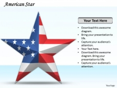 Stock Photo Star Design With Us Flag PowerPoint Slide