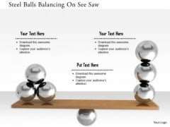 Stock Photo Steel Balls Balancing On See Saw PowerPoint Slide