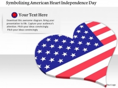 Stock Photo Symbolizing American Heart Independence Day PowerPoint Side