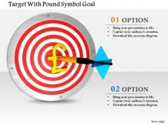 Stock Photo Target With Pound Symbol Goal PowerPoint Slide