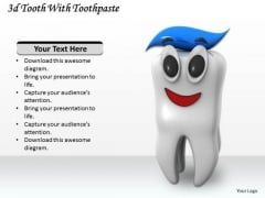 Stock Photo Teeth With Toothpaste Shows Dental Hygiene PowerPoint Slide
