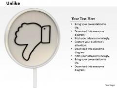 Stock Photo Thumb Down Web Icon On White Background PowerPoint Slide