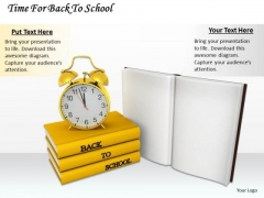 Stock Photo Time For Back To School Ppt Template