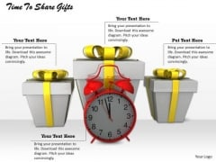 Stock Photo Time To Share Gifts Ppt Template