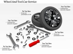 Stock Photo Tires With Services Tools PowerPoint Slide