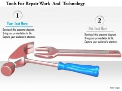 Stock Photo Tools For Repair Work And Technology PowerPoint Slide