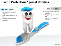 Stock Photo Tooth Protection Against Cavities PowerPoint Template