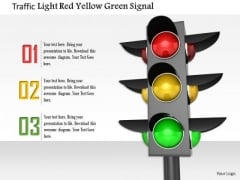 Stock Photo Traffic Light Red Yellow Green Signal PowerPoint Slide