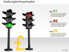 Stock Photo Traffic Lights Pound Symbol PowerPoint Slide