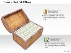 Stock Photo Treasure Chest Full Of Money PowerPoint Slide