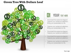 Stock Photo Tree Of Dollar Currency Symbols PowerPoint Slide