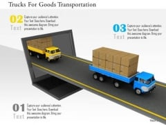 Stock Photo Trucks For Goods Transportation PowerPoint Slide