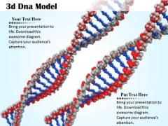 Stock Photo Two 3d Dna Design For Medical PowerPoint Slide