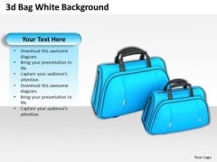 Stock Photo Two Blue Travel Bags PowerPoint Slide