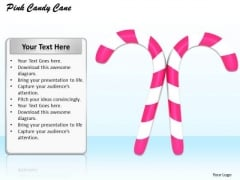 Stock Photo Two Candy Canes On White Background PowerPoint Slide