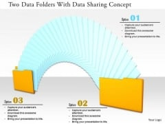 Stock Photo Two Data Folders With Data Sharing Concept PowerPoint Slide