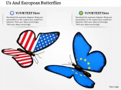 Stock Photo Us And European Butterflies PowerPoint Slide