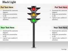 Stock Photo Watch Traffic Signals PowerPoint Slide