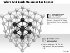 Stock Photo White And Black Molecules For Science PowerPoint Slide