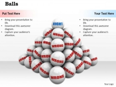 Stock Photo White Balls Making Pyramid PowerPoint Slide